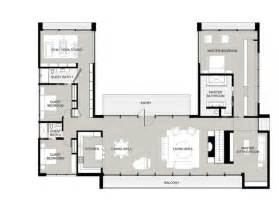 shaped house plans with courtyard and home design donald gardner