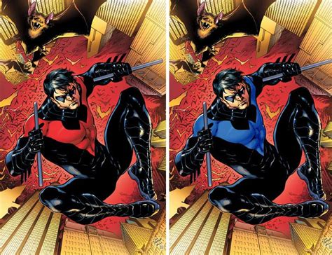 nightwing the rebirth deluxe 1401273750 nightwing red costume www pixshark com images galleries with a bite