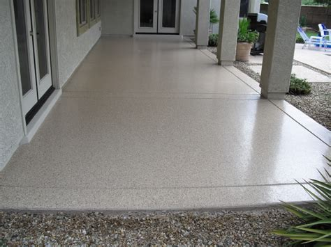 epoxy patio floor ourcozycatcottage com