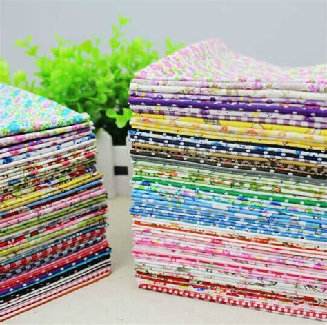 Patchwork Fabric Packs - 50pieces 20cm 25cm remnant cloth fabric stash cotton