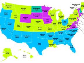 the map of state here are the states with the most hungry children map