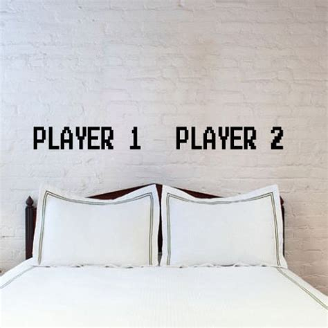 his and hers bedroom decor his and hers player 1 and player 2 bedroom decor via