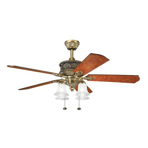 52 inch antique brass ceiling fan 300161bab kichler decorative fans 300161bab 52 inch