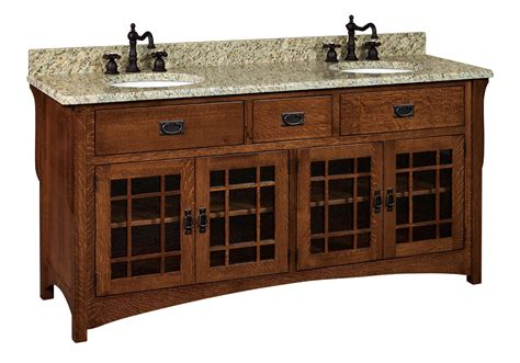 amish 72 quot lancaster mission bathroom vanity cabinet