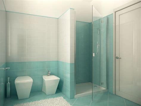 3d Bathroom Design Duesudue Portfolio Rendering Bagno Azzurro