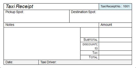 taxi invoice template taxi receipt template 17 free for word pdf