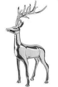 Wine Glass Vase Reindeer