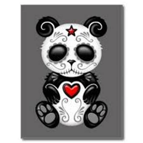 panda tattoo skull sugar skull panda google search crafts pinterest