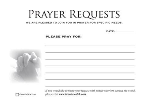 church prayer request cards template 6 best images of free printable prayer card template