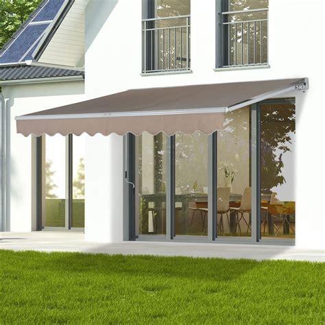 door window sun shades patio awning canopy retractable deck door outdoor sun