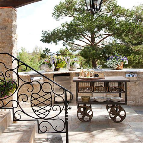 outdoor kitchen cart functional outdoor kitchen four generations one roof