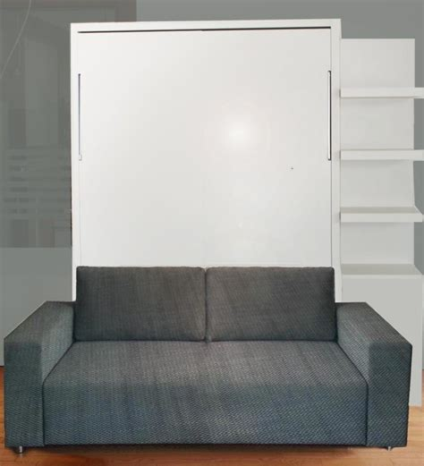 wall bed with sofa gloss finish ultra light vancouver