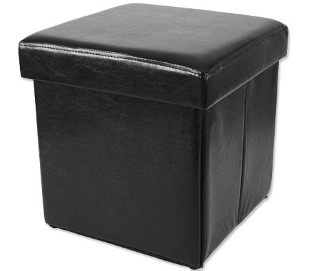 black leather cube ottoman folding cube ottoman with storage faux black leather