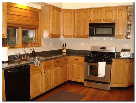 Kitchen Colors That Go With Oak Cabinets Recommended Kitchen Color Ideas With Oak Cabinets Home And Cabinet Reviews