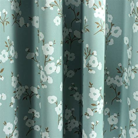 Aqua Blackout Curtains H Versailtex Traditional Aqua Floral Country Style Pattern Thermal Insulated Blackout Curtains