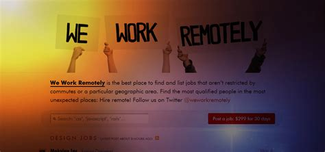 Work Remotely Finance Mba by Review Of We Work Remotely Remote Site