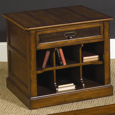 rectangular square end tables with storage hammary mercantile rectangular storage end table belfort