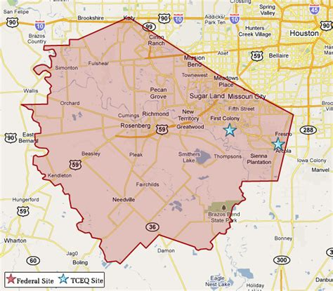map of fort bend county superfund in fort bend county tceq www tceq