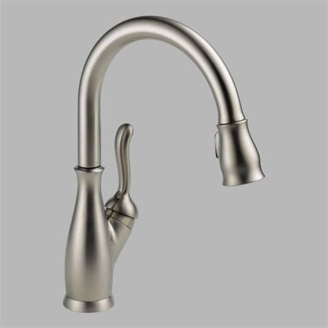 delta leland kitchen faucet reviews delta 9178 ss dst leland single handle pull kitchen
