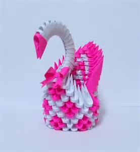 3d Origami Designs - 3d origami magenta swan by designermetin on deviantart