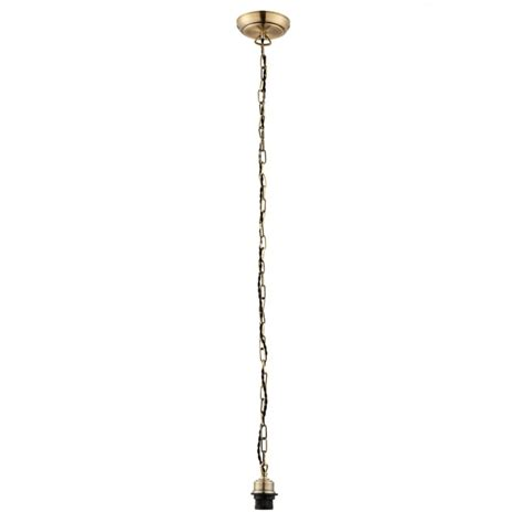 endon lighting ceiling cable chain set in antique brass