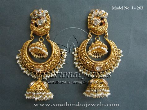 gold jhumka pattern gold jhumka designs from tibarumal jewels indian style