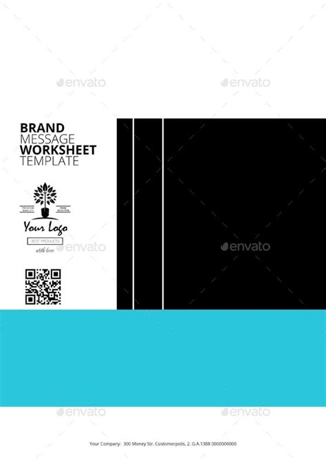 Brand Message Worksheet Digital Template By Keboto Graphicriver Brand Message Template