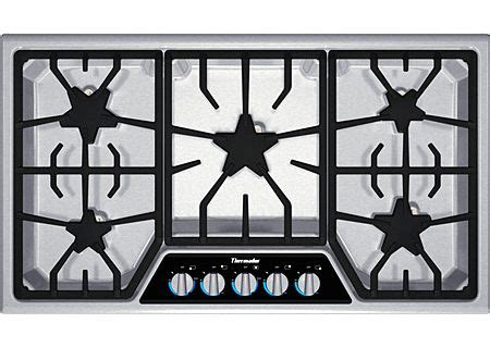 thermador masterpiece stainless gas cooktop sgsxfs