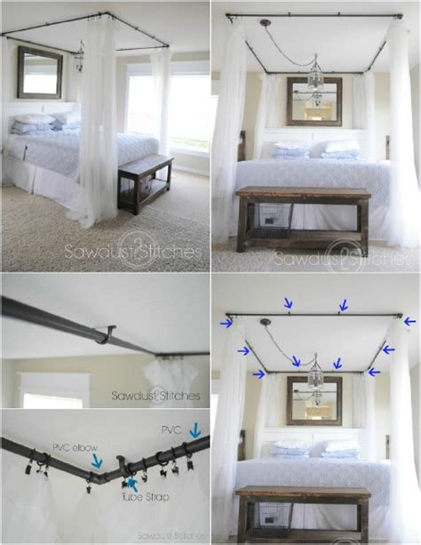 Wood Canopy Bed Frame Sleep In Absolute Luxury With These 23 Gorgeous Diy Bed
