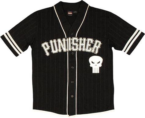 Kaos Punisher 5 punisher castle baseball jersey