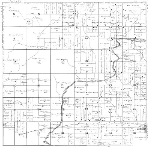plat maps hoard township clark county wi