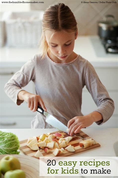 20 easy recipes for kids to make