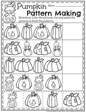 pattern making activities for preschool 9053 best best of halloween kindergarten first grade