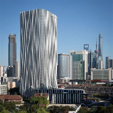 Sanghai Stripe 1 Strips Of Pleated Aluminium Are Added To The Facade Of
