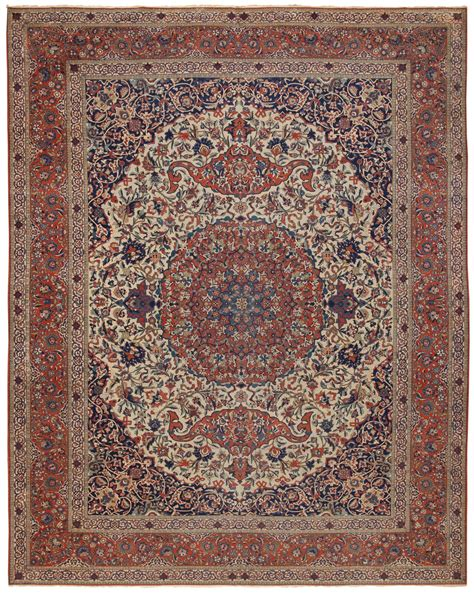 antique isfahan rug 45263 by nazmiyal