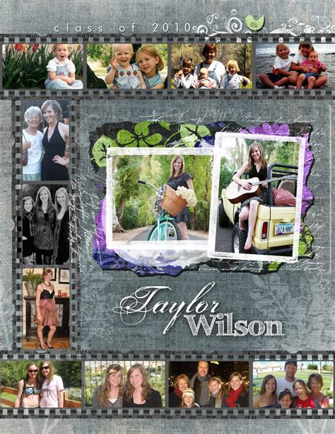 senior yearbook layout ideas custom senior pages 187 kacey luvi creative productions