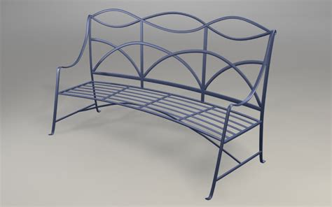 curved metal garden bench my notting hill fab garden benches