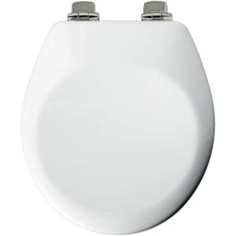 bemis closed front toilet seat in white