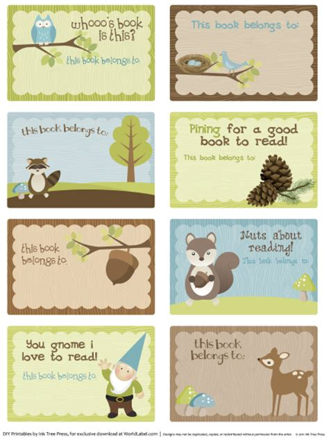 book labels template bookplate labels by ink tree press worldlabel