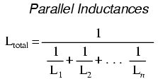 parallel inductor current series and parallel inductors