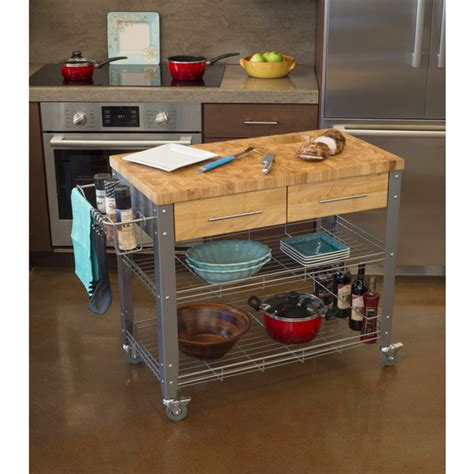 Chris And Chris Kitchen Cart by Chris Chris Stadium Kitchen Island Cart With Wood Top