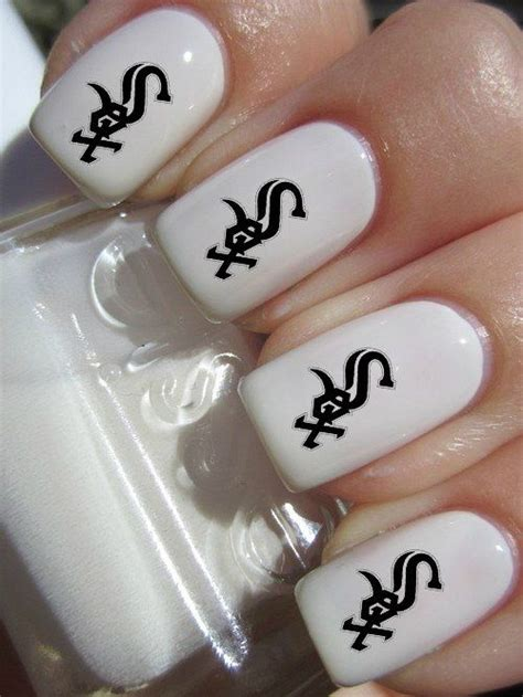 chicago white sox mlb baseball nail decals tattoos nail