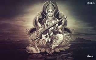maa saraswati black and white hd wallpaper