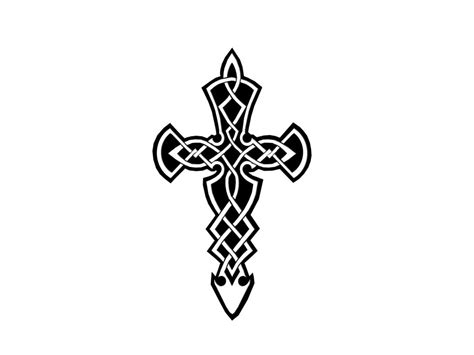 cross tattoo backgrounds black and white cross tattoos cliparts co