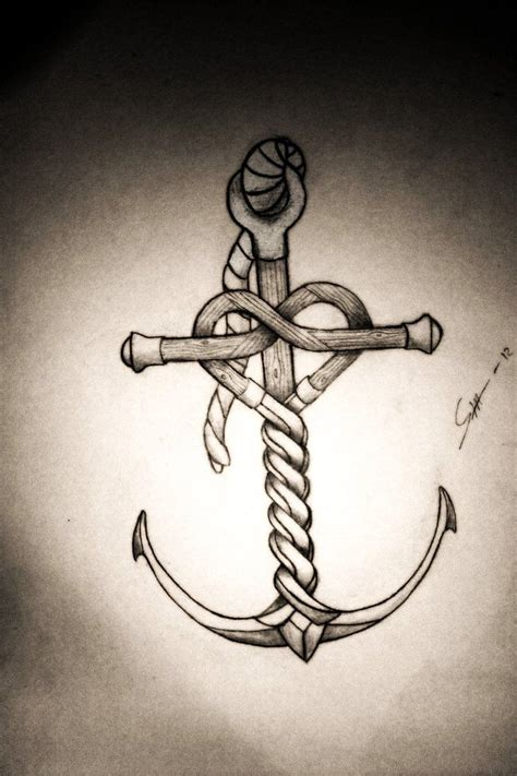 anchor and heart tattoos pinterest