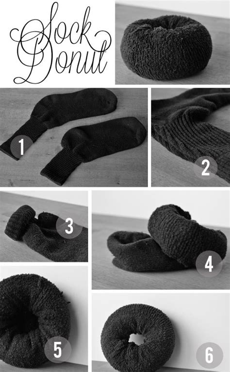 diy hair bun with sock diy sock bun for hair via isavirtue how to a sock bun