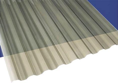 Clear Corrugated Roof Panels Suntuf Suntuf 12 Ft X 26 In Translucent Solar Gray