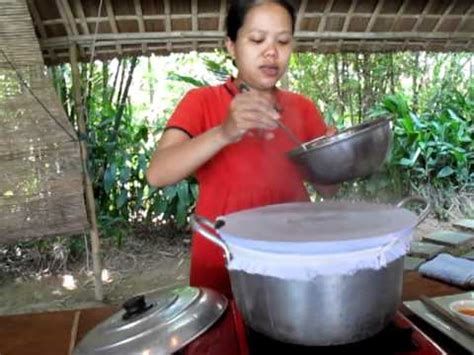 Make Rice Paper - banh uot rice paper