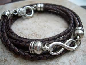 Leather Infinity Bracelet Leather Bracelet Infinity Bracelet Wrap Antique