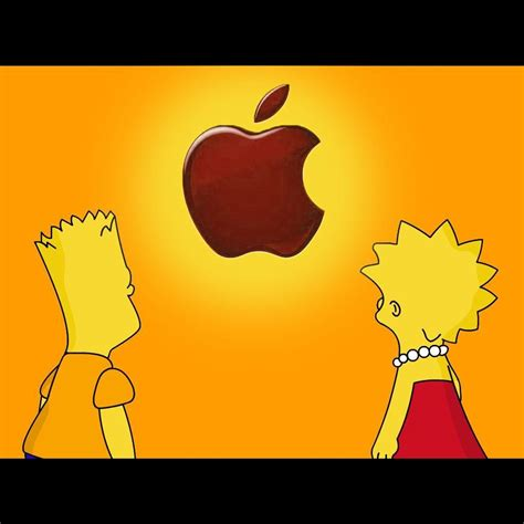 wallpapers apple homer simpson homer simpson apple wallpapers wallpaper cave